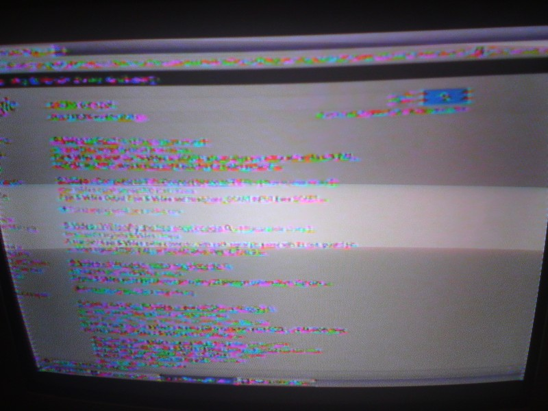 Po��czenie laptop - TV CRT (S-Video -> Euro) PAL