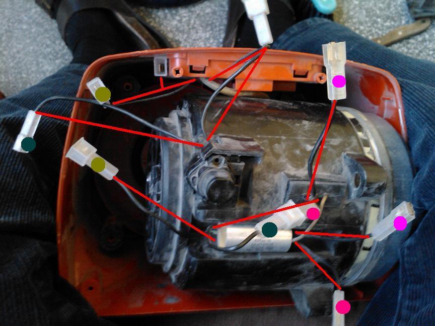 odkurzacz Zelmer meteor 1010- jak pod��czy� kable?