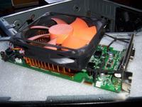 Palit 9600GT - Śrubki do wentylatora karty graficznej