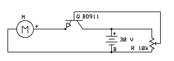 Dziwne zjawisko silniczek DC na 30V sterowany BD911 + potek