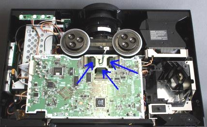 Panasonic PT-AE1000 - uszkodzone ta�my paneli LCD