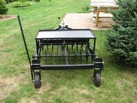 SAM Maszyna do trawnika - aerator, wertykulator, wygrabiarka, przyczepka.
