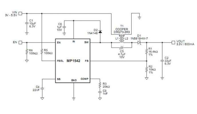 DC-DC CA-146C 700KHz/1.3MHz Boost Switch a 2A