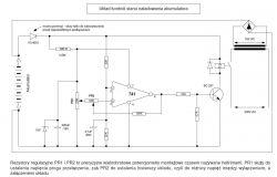 Prostownik LELEK - wyłączenie ładowania po osiągnięciu 14,4V