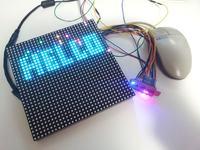 Matryca LED RGB z obsługą myszy PS2