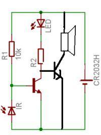 Mini system alarmowy - Buzer w połączeniu z fotodiodą działa odwrotnie