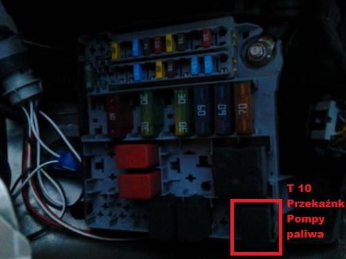 Fiat Panda 2002r 1.1 - brak zasilania pompy paliwa