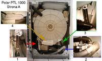 Pralka polar PTL 1000 dioda serwis świeci. Na pusto działa.
