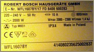 Bosch WFL1607BY - Wywala bezpieczniki