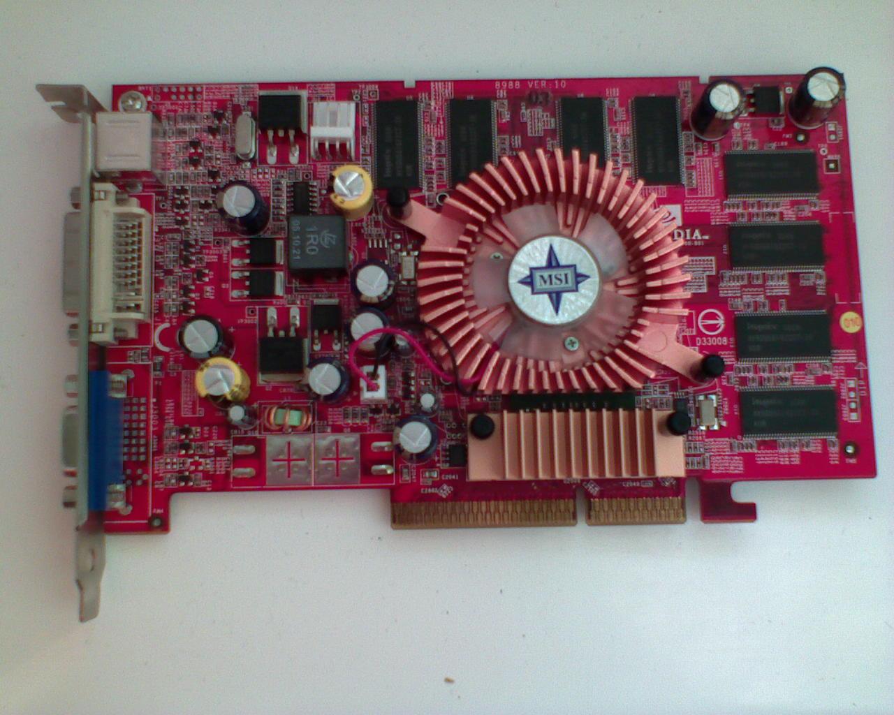 [Sprzedam] Microstar MSI GeForce 6600 256MB (!) AGP OC z Gwarancj�!