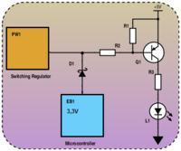 Prosty układ do sterowania LEDem z tranzystorem PNP?