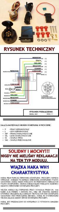 Schemat modułu haka - Potrzebny schemat elektryczny modułu haka.