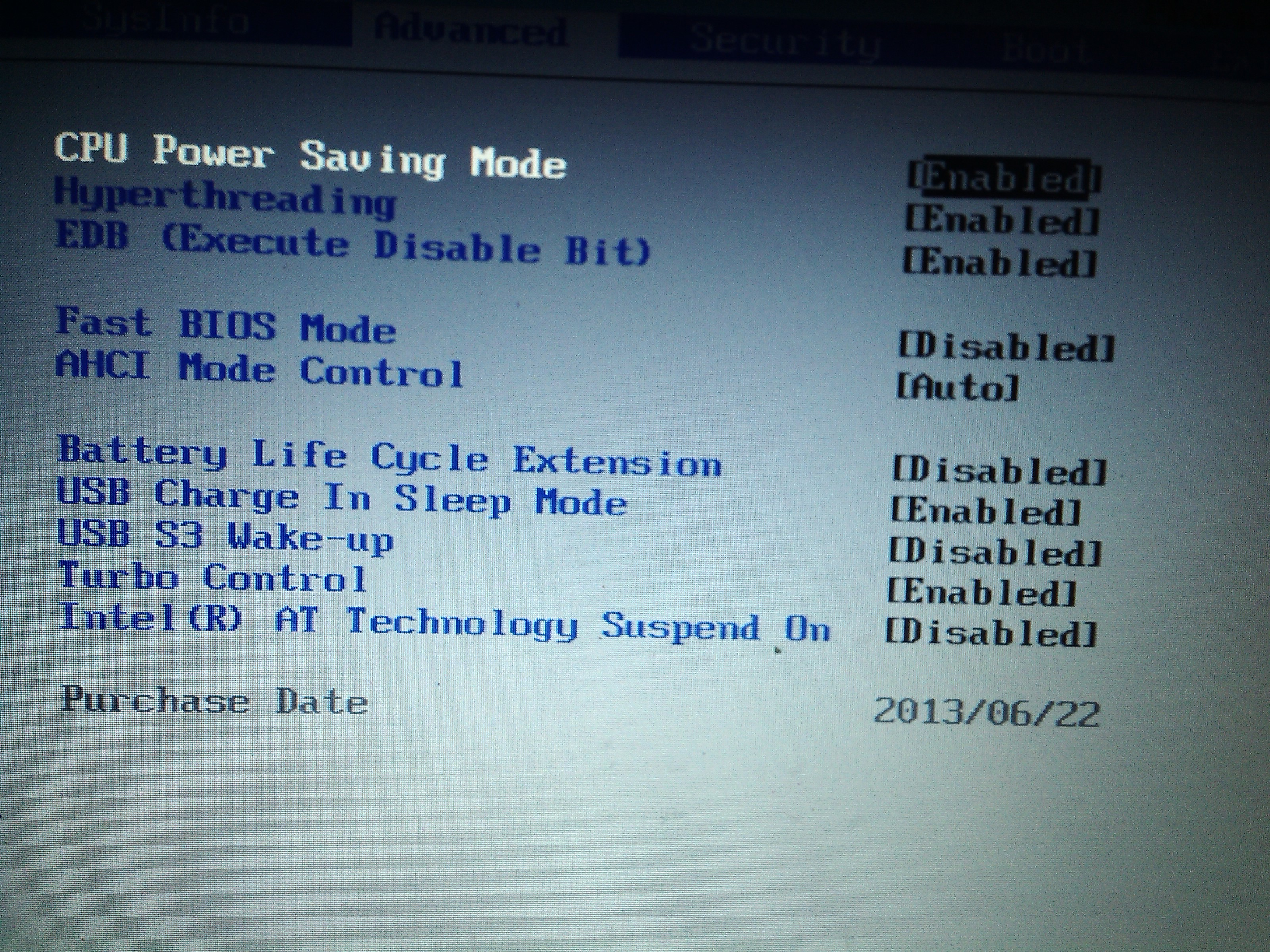Samsung seria 5 Ultrabook NP530U3C boot menu ca�y czas wyskakuje