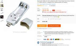 Ładowarka USB, do akumulatorów Ni-MH Made in China - Recenzja