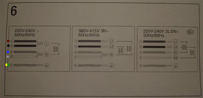 P�yta indukcyjna Bosch PIE611F - Wysokie napi�cie sieci (245V i 422V)