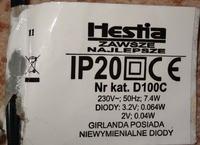 Lampki choinkowe LED Hestia D100C - uszkodzony sterownik