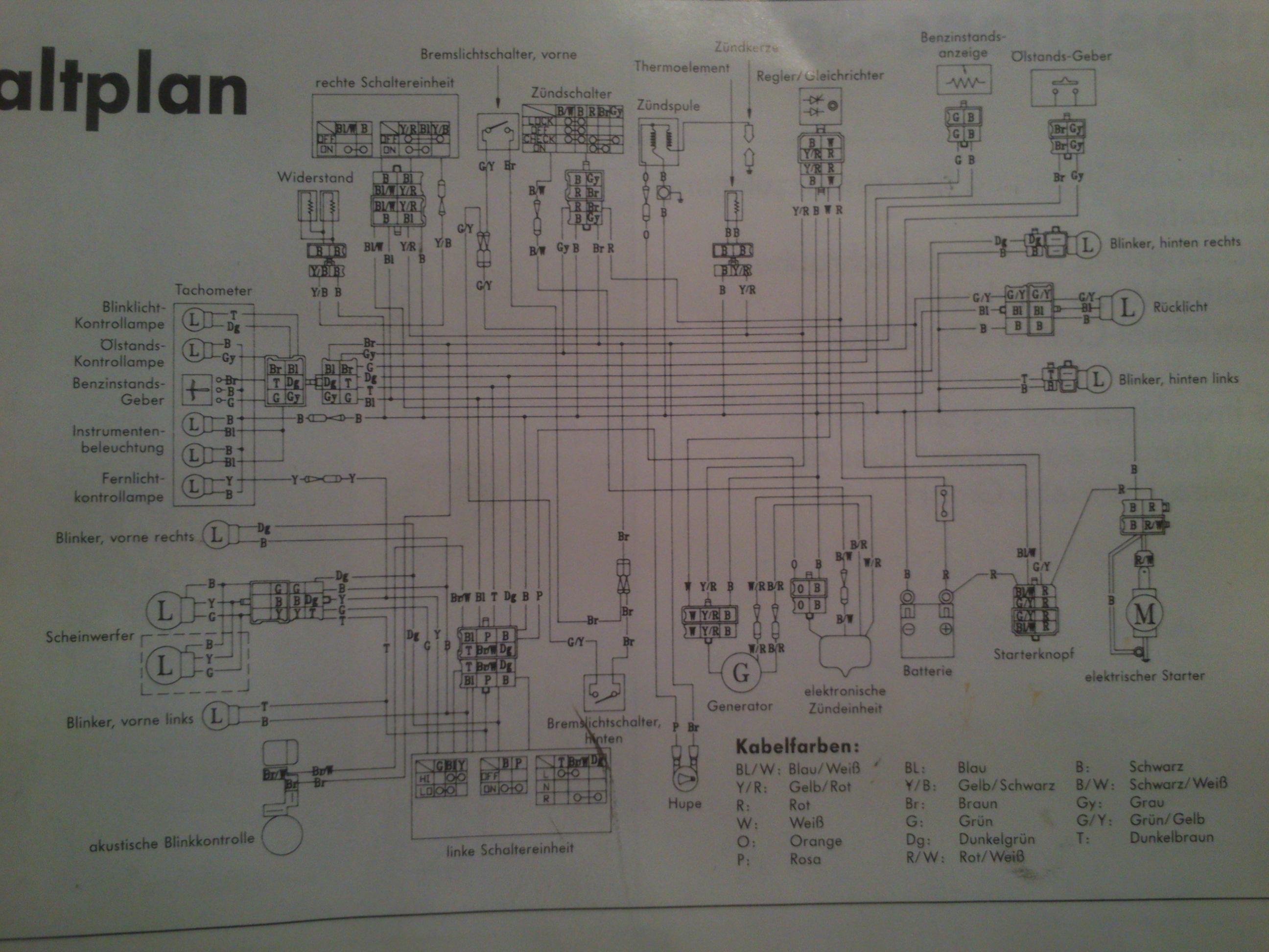 Skuter - schemat instalacji elektrycznej