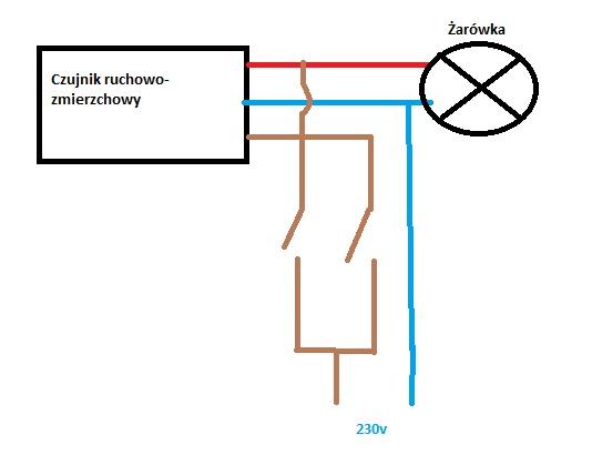 jak podłączyć 2 czujnik ruchu do lampy led