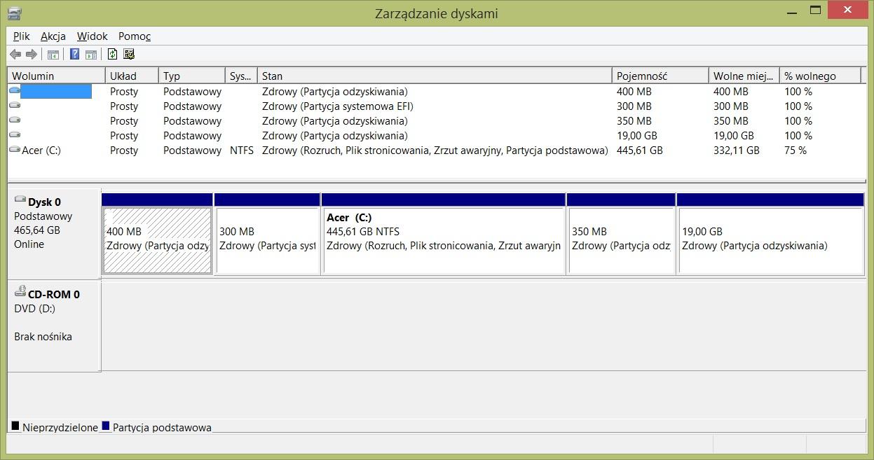 Acer Aspire V3-771G - Brak dost�pu do recovery przez Alt+10 oraz aplikacj�
