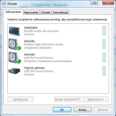 Laptop + TV oraz zarz�dzanie d�wi�kiem