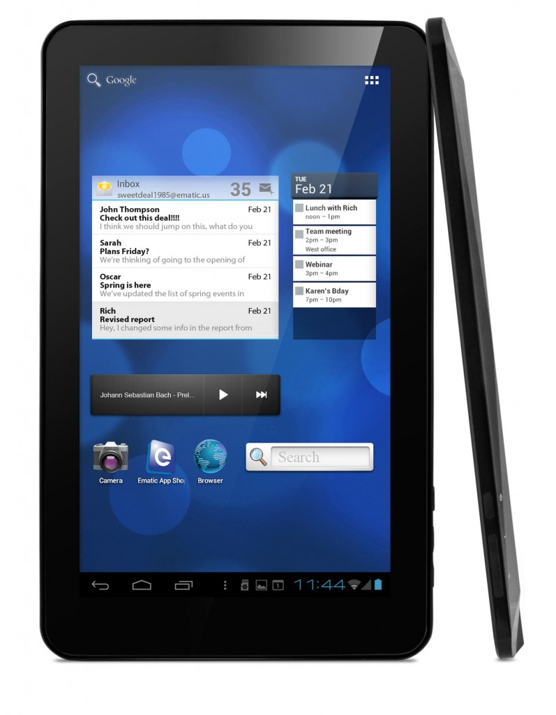 "Ematic eGlide XL Pro 2 - bud�etowy tablet z 10,1"" ekranem TFT i Android 4.0"