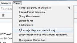 MThunderbird nie można wysyłać poczty. Serwis SMTP