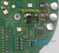 Aprilia Easy SR50  -  Licznik cyfrowy Digitek, zasilanie na p�ytce
