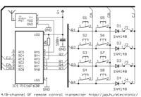 Ośmiokanałowe zdalne sterowanie na Pic16fxxx.