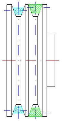 Przek�adnia pasowa - obliczenia �rednic k� i pr�dko�ci obrotowych