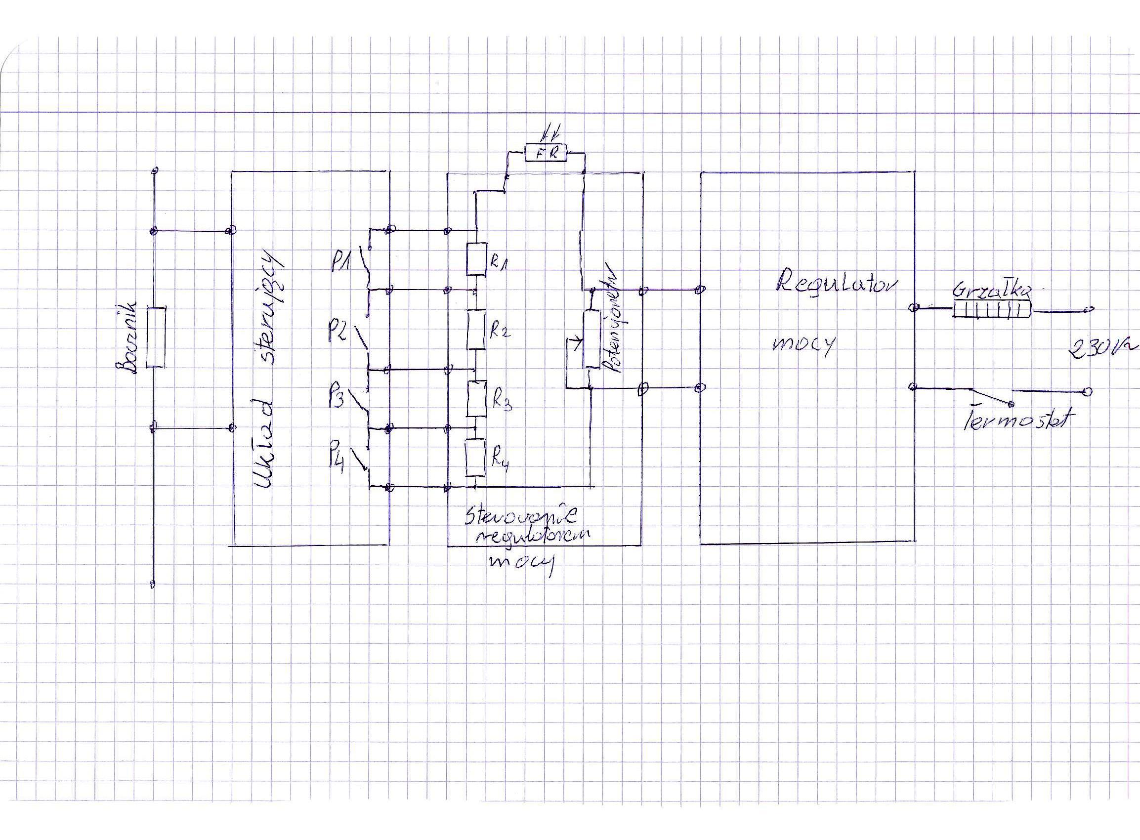 Prosty regulator mocy grza�ek w instalacji PV.