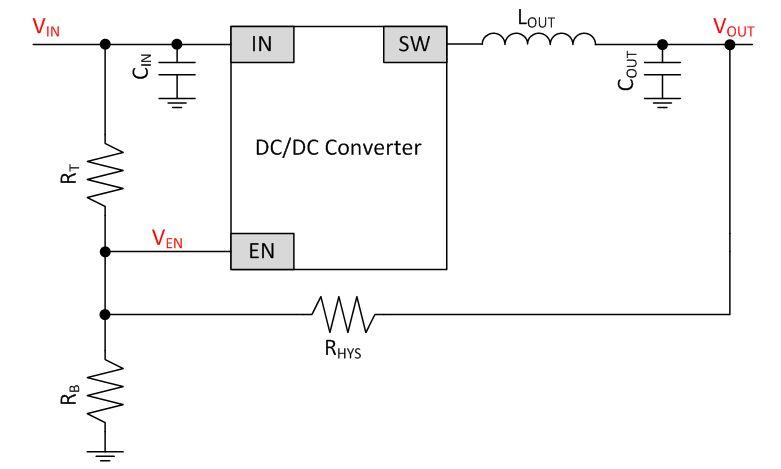 Jak dodać histerezę do wejścia enable przetwornicy DC/DC