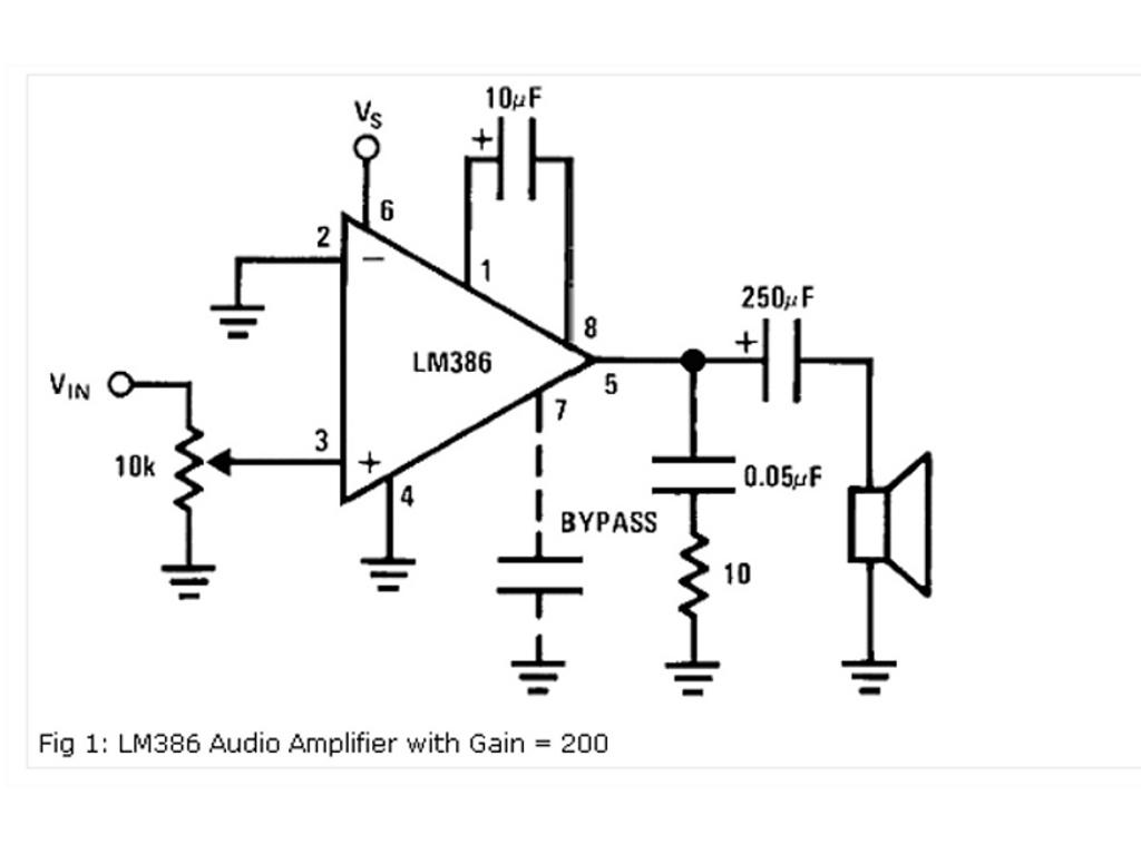 Wzmacniacz na bazie LM 386 - jak pod��czy� ze schematu?