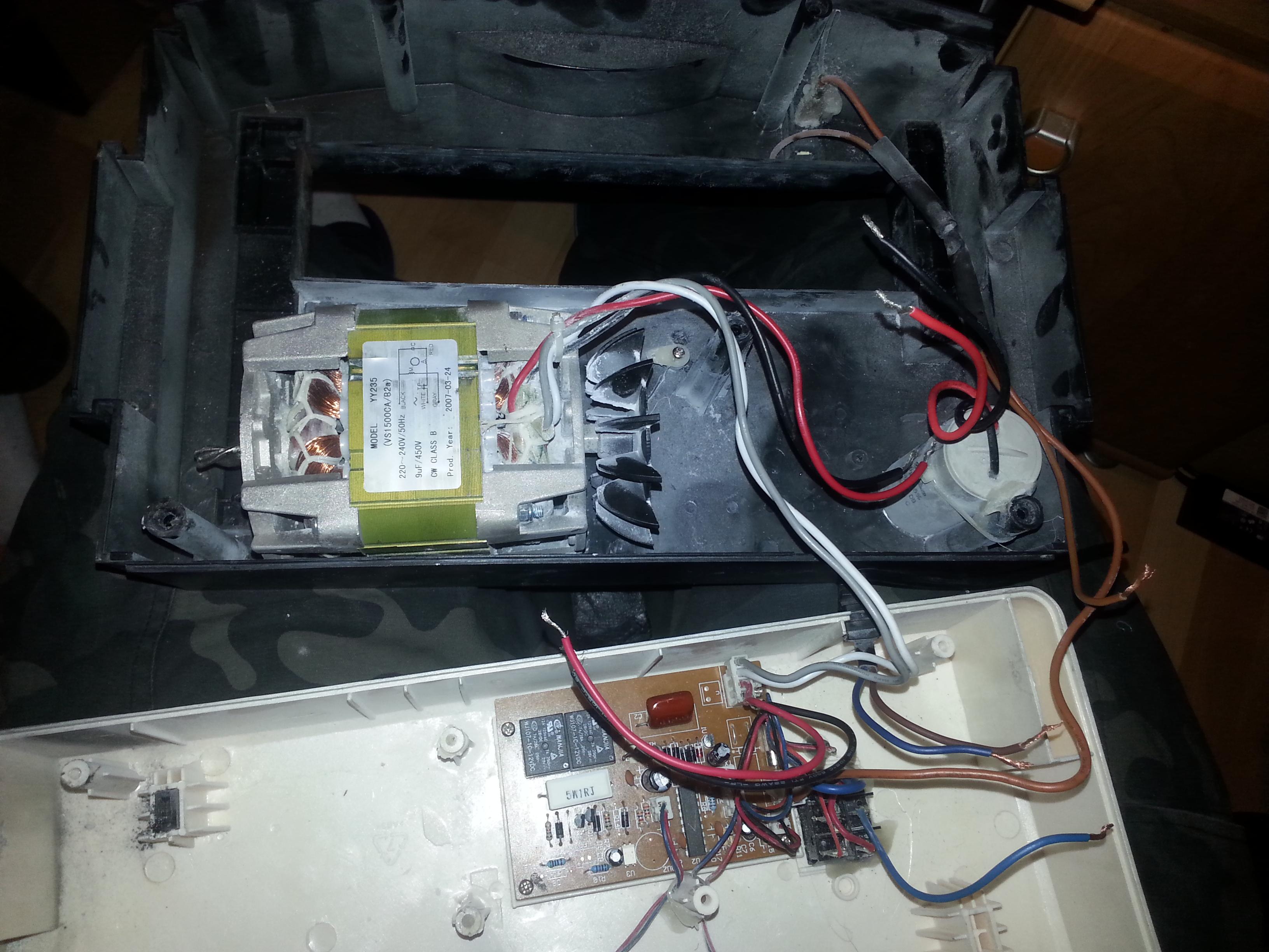 niszczarka opus vs 1500 ca - pod��czenie silnika i elektroniki