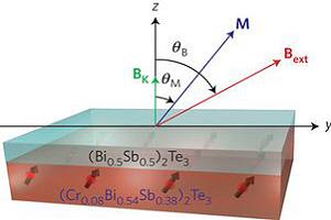 Izolatory topologiczne z warstw� magnetyczn�