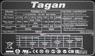 Tagan model: TG580-U15 naprawa...