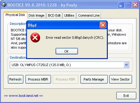 karta xD - działa w PC, a w aparacie nie.