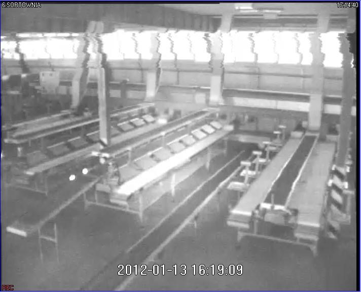 Monitoring poziome pasy z kamery