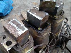 Przezwojenie transformatora 3 fazowego - uzwojenie bez karkasu