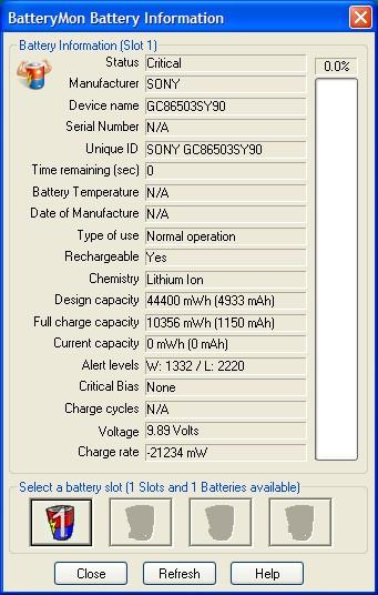 Acer Aspire 3690 - kalibracja baterii