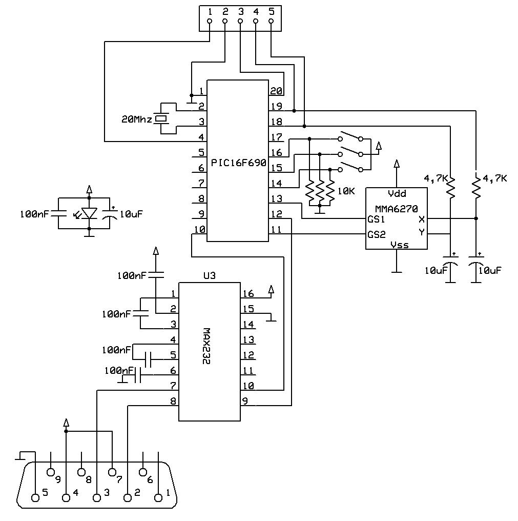 myszka pc oparta o akcelerometr