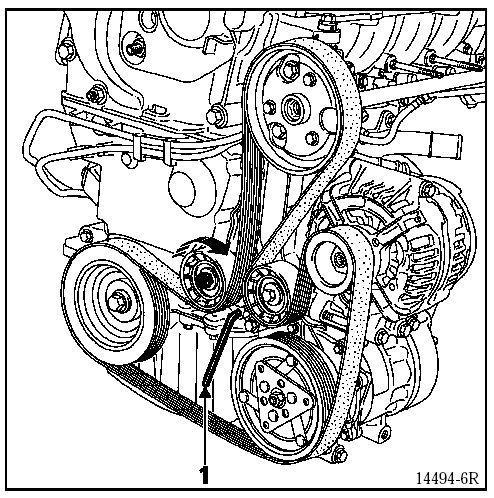 Zerwany pasek alternatora Megane Scenic 2000r 2,0 16V klima