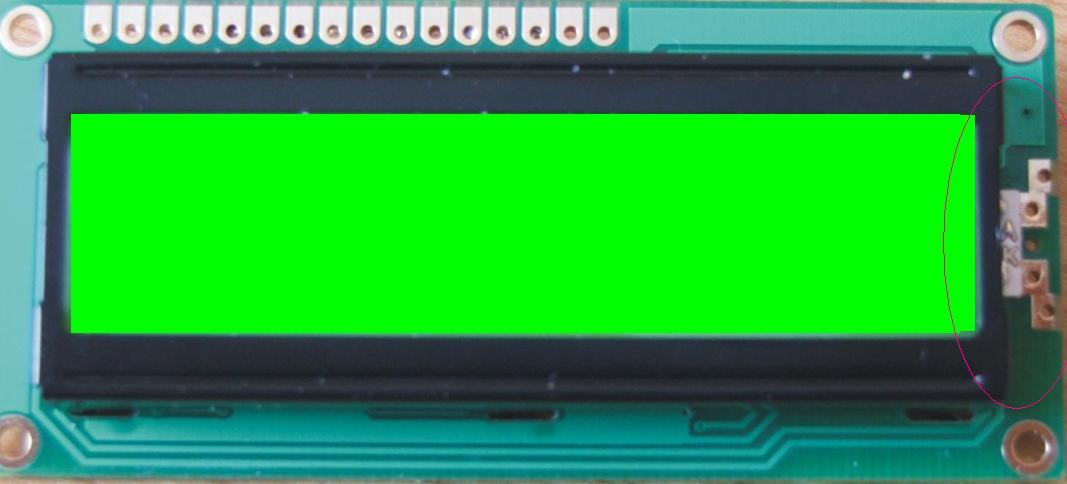Wy�wietlacz LCD 2x16 [SSC2B16ULGY] - pod��czenie