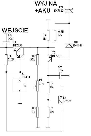 Wykrywanie ko�ca �adowania w zasilaczu buforowym (akumulator �elowy 12V).