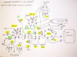 Uproszczenie schematu radia lampowego MENUET 6204