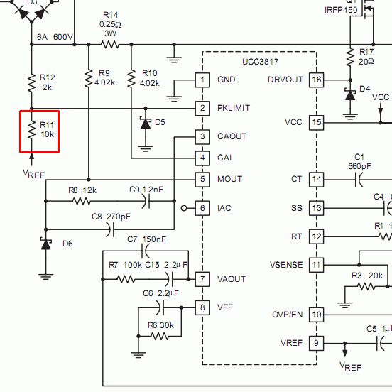 Chieftec model: GPS-450AA-101A schemat jest, ale brak na nim warto�ci el