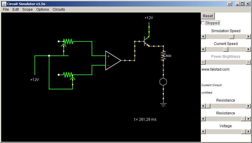 Wzmacniacz operacyjny, �ledzenie temperatury + symulator