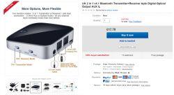 Adapter bluetooth do TV do słuchawek bluetooth SONY WH-CH500B