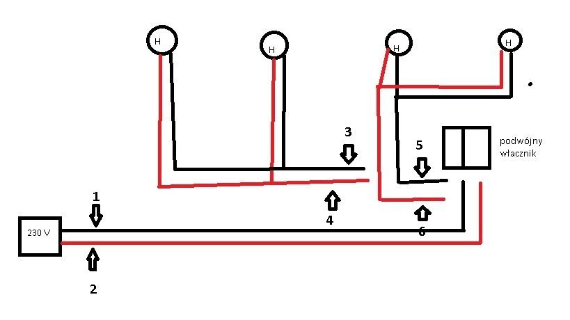 Jak pod��czy� 4 halogeny, 2,2,4