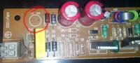 Statecznik do świetlówek 2x36W - Spalony bezpiecznik, przepalona ścieżka.