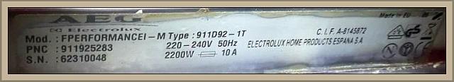 AEG FPERFORMANCEI- M Type: 911D92-1T (PNC:911D92) cały czas wypompowuje wodę.